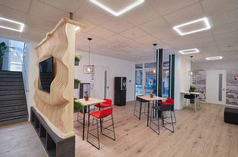 A new working environment with a feel-good atmosphere